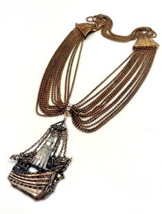 Pirate Ship Pirates, Tassel Necklace, Art Decor, Tassels, Jewelry Design, Victorian, Bronze, Ship, Antiques