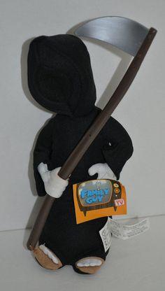 "Family Guy Grim Reaper Plush Doll Nanco Black Deaths Dog 9"" NEW 2005 #Nanco http://stores.ebay.com/Lost-Loves-Toy-Chest/_i.html?image2.x=24&image2.y=9&_nkw=family+guy"