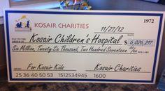 Kosair Charities Donates Over 6 Million to Kosair Children's Hospital in 2012