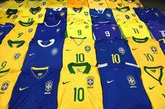 Brazil football shirts collection Football Shirts, Brazil, Pajama Pants, Pajamas, Swimwear, Collection, Football Jerseys, Pjs, Soccer Shirts