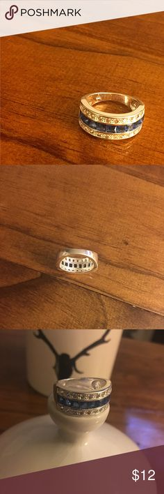 Thin Blue Line Ring Silver ring in perfect condition. Very sparkly. No scratches etc. Store I got it from said sterling silver, stamp hard to read. Jewelry Rings
