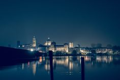 Mantua from the inner lake - The beautiful Mantua from the inner lake (Sparafucile) Blue version