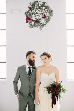 modern industrial wedding editorial - photo by Heart and Sparrow http://ruffledblog.com/modern-industrial-wedding-editorial