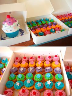 butter hearts sugar: Giant Cupcake Cake and Cupcakes