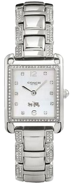 Coach Page 14502018 Silver Stainless Mother of Pearl Dial Glitz Womens Watch. Free shipping and guaranteed authenticity on Coach Page 14502018 Silver Stainless Mother of Pearl Dial Glitz Womens Watch at Tradesy. The rectangular mother-of-pearl dial and shimmerin...