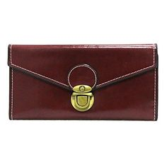 ETIAL Womens Oily Soft Leather Vintage Long Envelope Wallet Card Cases Wine ** Find out more about the great product at the image link.