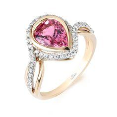 Parade Designs pink spinel ring