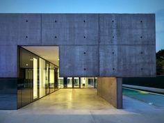 Sichtbeton Haus-Terrasse Beleuchtung Flachdach