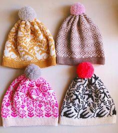 Lovely spring knit hats in candy colors by Kutova Kika :) www.etsy.com/shop/kutovakika