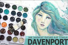 Jane Davenport using Daniel Smith watercolors