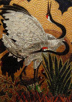 Japanese stork mosaic