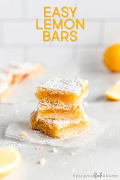 These perfect lemon bars are gooey and lemony with a soft, buttery shortbread crust. It's my mom's go-to recipe so you know it's good! #BoiledLemonWaterBenefits Lemon Juice Benefits, Fresh Lemon Juice, Water Benefits, Lemon Water, Recipe Using Lemons, Raspberry Scones, Delicious Desserts, Dessert Recipes, Lemon Filling