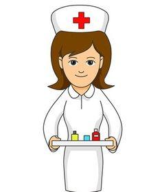 stock vector  light  nurse cartoon nurse clip art