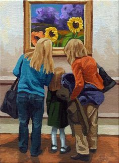 """Linda Apple ~ """"Three Sunflowers"""""""
