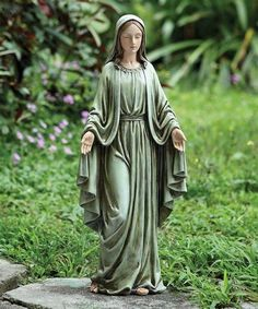 Mary Jesus Mother, Mother Mary Images, Images Of Mary, Blessed Mother Mary, Mary And Jesus, Blessed Virgin Mary, Prayer Garden, Virgin Mary Statue, Madonna And Child