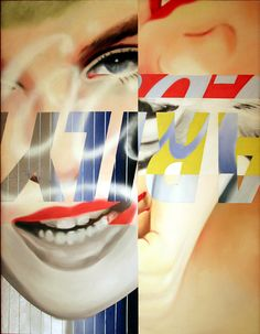 Artwork by James Rosenquist - Marilyn,1962, | Painting | Artstack ...