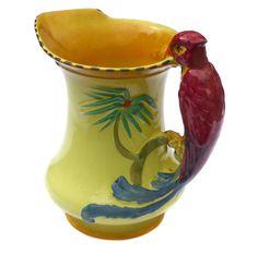 1930s Art Deco Burgess & Leigh Burleigh Ware Cottage Garden Jug Antique Vase Vintage Vase Art Deco Vase Vintage Home Decor by BiminiCricket on Etsy