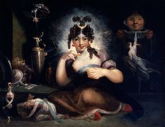 Henry Fuseli. Faery Mab. Oil on canvas, ca. 1815-1820. Folger Shakespeare Library. #Shax450