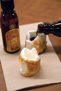 Entertain Like A Pro: Fill a hollowed-out roasted marshmallow with Kaluha & have the best bonfire ever, basically - Hubub