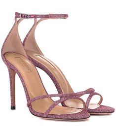8e6f454f7 Aquazzura - Purist 105 glitter sandals - Aquazzura knows how to make  minimalist footwear that stands