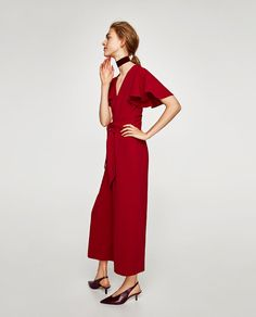 8b89ce69082 Image 4 of JUMPSUIT WITH BOW from Zara Zara United States