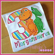 Personalized Dinosaur Train Birthday TShirt with by GrangiesGifts