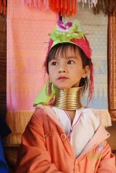 https://flic.kr/p/4wF3qD | Karen Hill Tribe Village | Long neck child  Karen Hill Tribe Village  Thailand