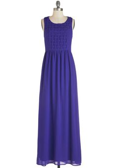In Quite a Transfix Dress - Blue, Solid, Cutout, Cocktail, Girls Night Out, Maxi, Sleeveless, Long, Woven, Wedding