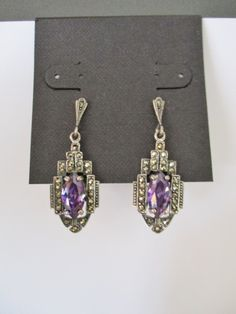 Beautiful Amethyst Art Deco Earrings by Spiritracer on Etsy https://www.etsy.com/listing/273042740/beautiful-amethyst-art-deco-earrings
