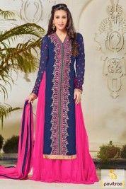 Latest Cobalt Blue Color Chiffon Bollywood Salwar Kameez Online #salwarsuit, #bollywooddress more: http://www.pavitraa.in/wholesale-catalog/karishma-kapoor-designer-salwar-kameez-online/