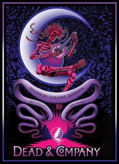 Dead and Company - Madison Square Garden NYC, 2015 Grateful Dead Logo, Phil Lesh And Friends, Concert Posters, Music Posters, Band Posters, Jerry Garcia Band, Dead And Company, Best Part Of Me, Album Covers