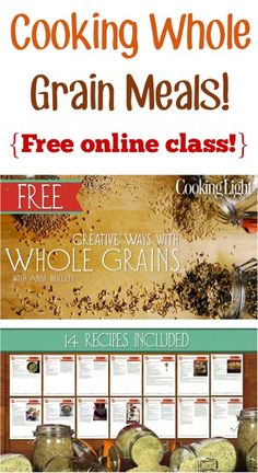 Cooking Whole Grain Meals! {FREE online class!}