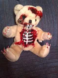 Zombie Teddy Bear Zombie Baby Halloween Haunted House Prop   eBay