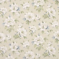 Wisley Floral Print Linen/Cotton Curtain Fabric, Natural