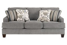 Yvette - Steel - Sofa by Ashley Furniture. Get your Yvette - Steel - Sofa at Renaissance Furniture, Roseville CA furniture store. Ashley Furniture Sofas, Furniture Near Me, Furniture Sale, Cheap Furniture, Discount Furniture, Royal Furniture, Furniture Cleaning, Furniture Market, Furniture Movers