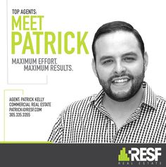 Meet Top Agent Patrick Kelly, Maximum Effort = Maximum Results! Learn more about him: http://resf.com/patrick-kelly