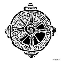 "Download the royalty-free vector ""Hunab Ku.  Mayan symbol. Vector illustration."" designed by katyau at the lowest price on Fotolia.com. Browse our cheap image bank online to find the perfect stock vector for your marketing projects!"