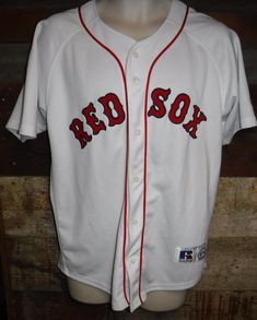 a9923c533 BOSTON RED SOX BASEBALL MLB JERSEY SIZE 18 20 EMBROIDERED RUSSELL NICE  L  K   29.99 End Date  Monday Oct-29-2018 19 04 43 PDT Buy It Now…