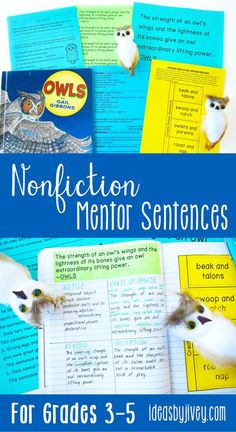 Mentor sentences are the perfect way to teach grammar and author's craft through examples of excellent sentences from your favorite read-aloud books! This bundle is just what you need to implement nonfiction mentor sentences in your classroom all year! Each of the 10 lessons includes the teacher sentence page, the student sentence page, a lesson plan page with possibilities for all 4 days, and a quiz aligned with CCSS with answer key. #mentortexts #mentorsentences #nonfiction #3rdgrade #4thgrade