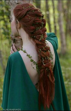Braids make hair grow. So we think it's thanks to the braids! Pretty Hairstyles, Braided Hairstyles, Wedding Hairstyles, Elvish Hairstyles, Medieval Hairstyles, Witchy Hairstyles, Fairy Hairstyles, Redhead Hairstyles, Braid Hairstyles