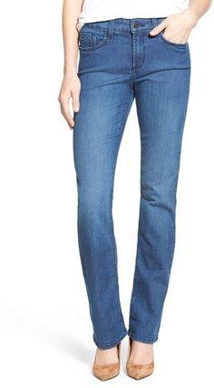 NYDJ 'Marilyn' Stretch Straight Leg Jeans (Yucca) (Regular & Petite)