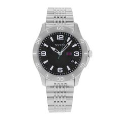 7475b8fcd6b Free shipping and guaranteed authenticity on Gucci Stainless Steel Black  Dial G-timeless Ya126218 Quartz