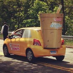 WoulDDn't it be great if cars really did run on Dunkin'?