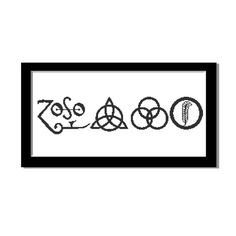 Cross Stitch Pattern - Counted Cross Stitch Pattern PDF Instant Download Rock Music Band Logo Led Zeppelin Black and White Modern Design