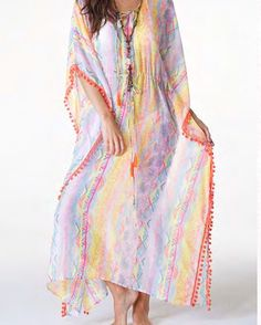 The On the Rocks Kaftan will have you wanting to order something on the rocks.  Margarita anyone?  Great pool/beach coverup or for lounging in.  $58 at cottonandpearls.com