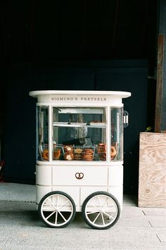 Pretzel Cart// beautiful pastry cart tk