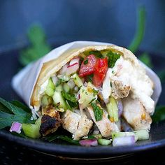 Spicy Chicken Shawarma is famously delicious Israeli street food, but you can easily make it at home with this recipe by Panning The Globe!