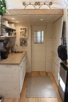 Tiny Hall House 2015 Kitchen and Bath area.