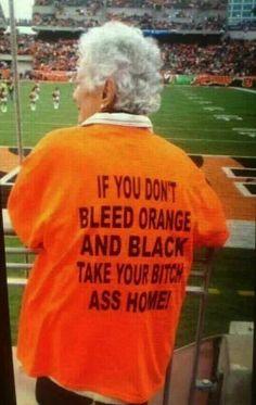 Granny Cincinnati Bengals fan wearing explicit t-shirt like a boss
