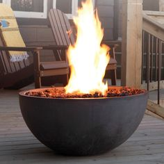 Kingsman Fire Bowl | WoodlandDirect.com: Outdoor Fireplaces: Fire Pits - Gas